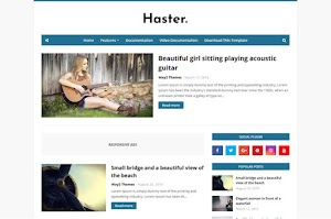 Haster - Responsive Blogger Template