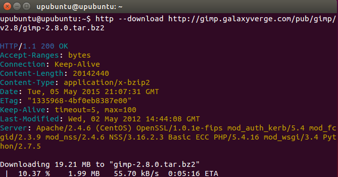 HTTPie: A Command Line File Downloader (Wget/Curl