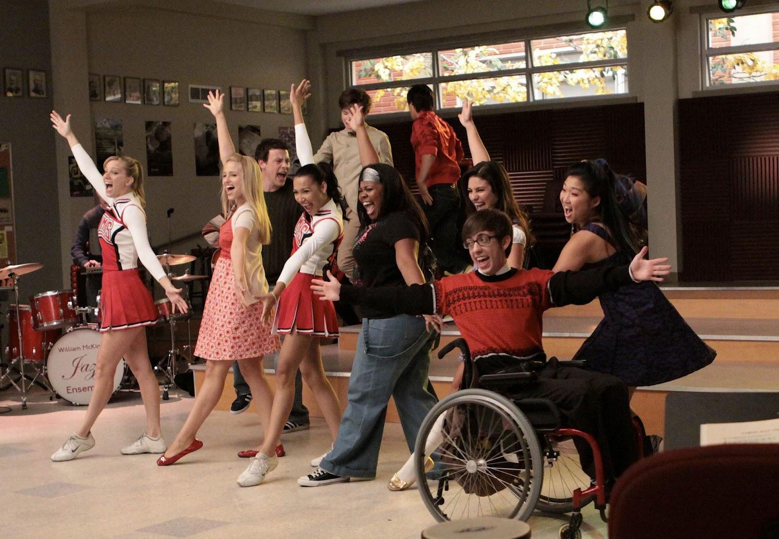 Algunos de los protagonistas de 'Glee'