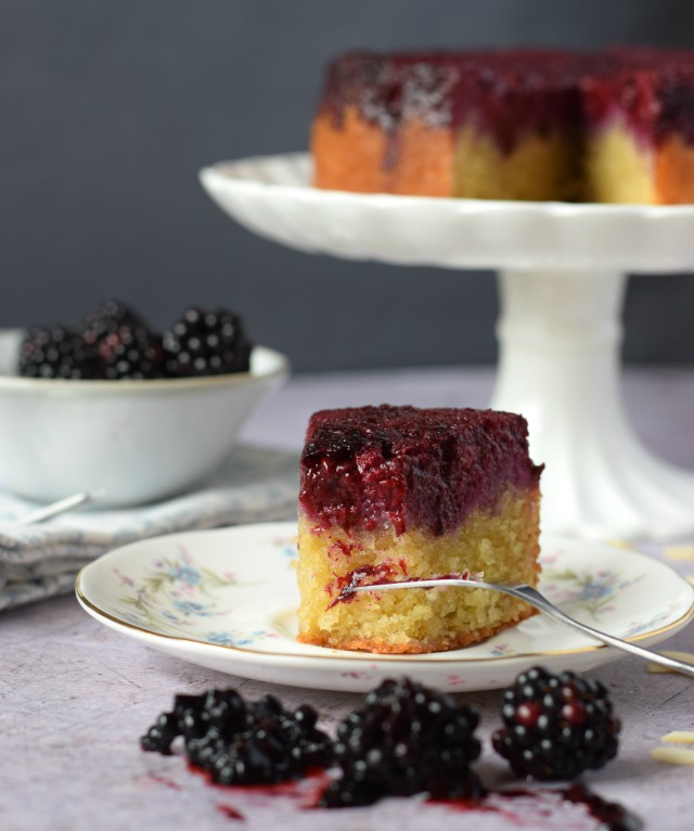Blackberry and Almond Upside Down Cake