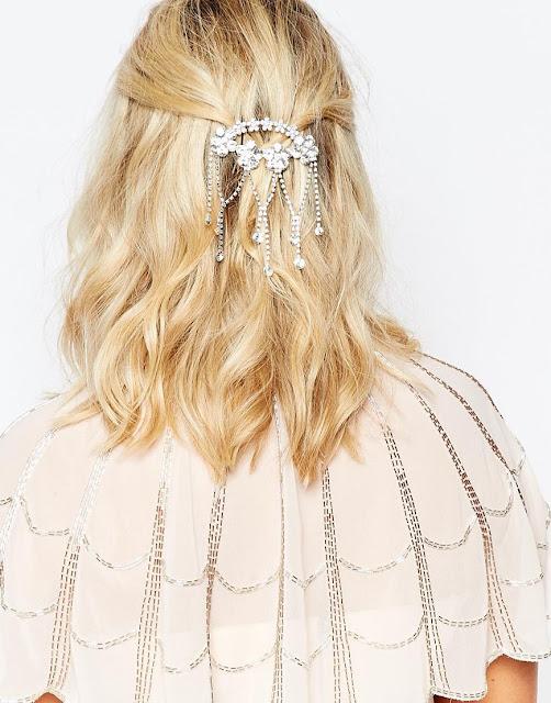 love rocks crystal hair clip, asos wedding hair clip,