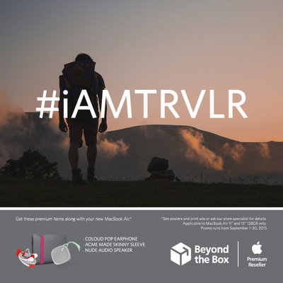 #iAMTRVLR MacBook Air Zero 24 Installments