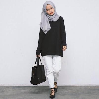 Baju Casual Wanita Berjilbab Terbaru Tahun 2018