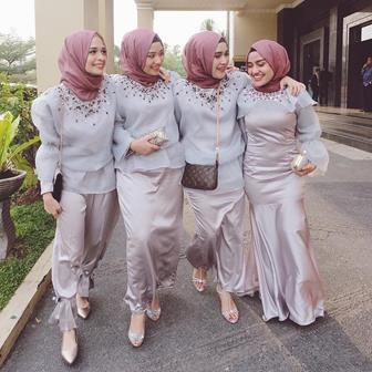Baju Kebaya Muslim Simple Dan Elegan Untuk Pesta