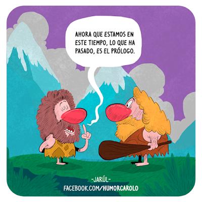 Dos cavernicolas conversando