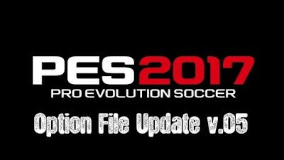 PES 2017 PC Option File Update v.05