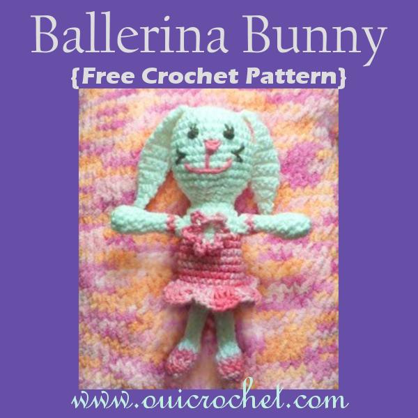 Crochet, Free Crochet Pattern, Crochet Toys, Crochet Bunny, Easter, Crochet Ballerina Bunny,Easter Crochet,