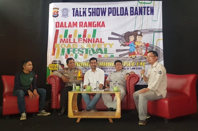 Direktorat Lalu Lintas Polda Banten Sosialisasi Program Millenial Road Safety