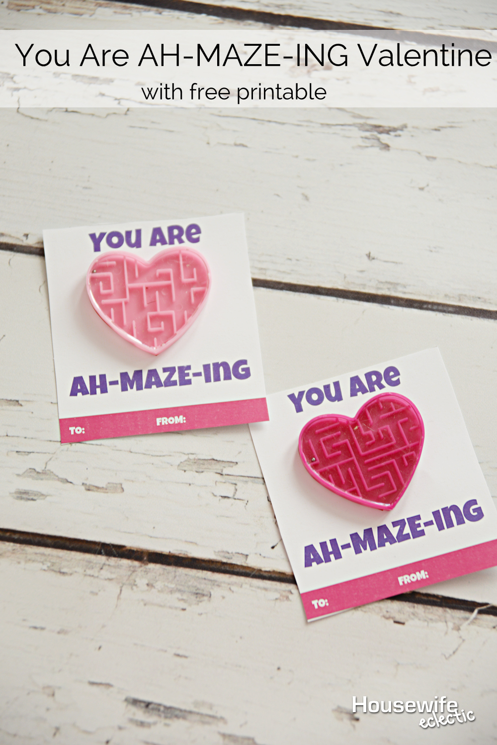 this valentine is easy to print at home and add these darling little mazes you will be ready for your child s class party in no