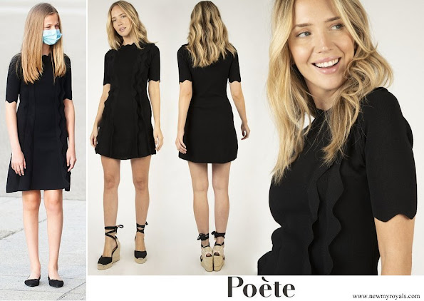 Crown Princess Leonor wore Poeta Knitted dress