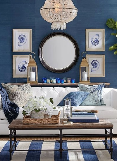 30 Coastal Gallery Walls Inspiration Ideas To Create A Compelling Wall Art Display Coastal Decor Ideas Interior Design Diy Shopping