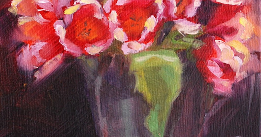 No. 788 Tulips with Red Scarf
