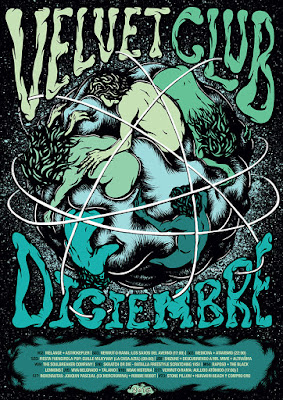Velvet Club December Poster by Daryll Peirce