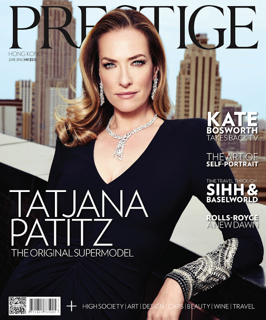 Actress, Model, @ Tatjana Patitz  for Prestige Magazine, June 2016