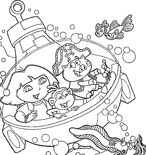 dora coloring page | Learn To Coloring