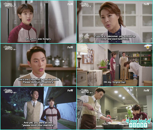 a female worker though ha won as a new worker - Cinderella and 4 Knights - Episode 3 Review