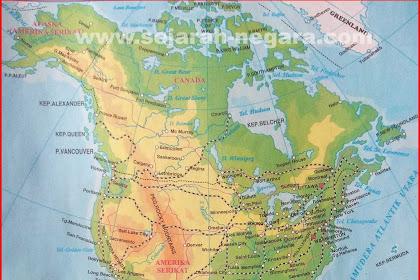 Peta Atlas Amerika Utara dan Amerika Tengah 2018