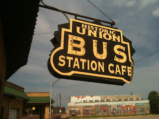 Historic Bus Station Cafe Sign