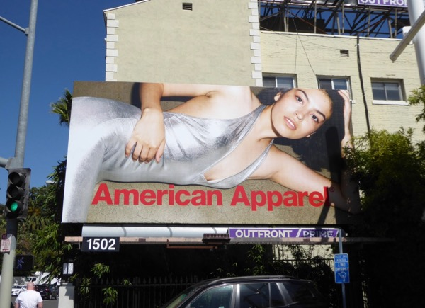 American Apparel FW17 silver dress billboard