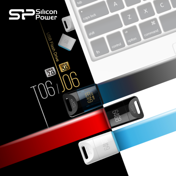 Silicon USB 2.0 Touch T06 and USB 3.0 Jewel J06