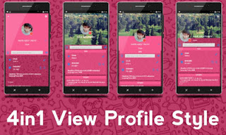 BBM Mod IMessenger v7 Unclone Cute Theme Pink v3.0.1.25 APK Terbaru