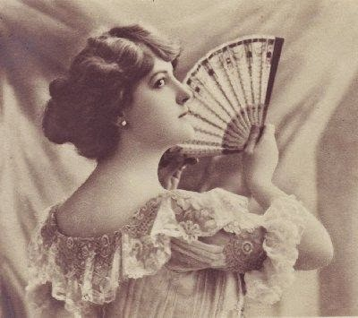 Victorian woman with fan