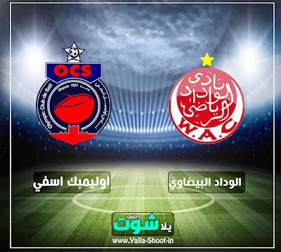 بين ماتش بث مباشر مشاهدة مباراة الوداد واوليمبك اسفي اليوم 7-2-2019 في الدوري المغربي