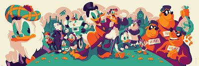 DuckTales Flintheart Glomgold Edition Screen Print by Tom Whalen x Cyclops Print Works x Gallery Nucleus x Disney
