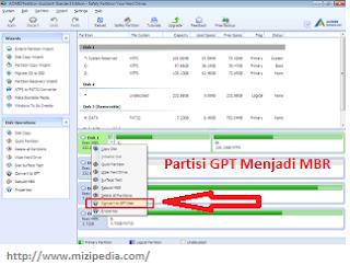 Tips Cara Merubah Partisi GPT Menjadi MBR