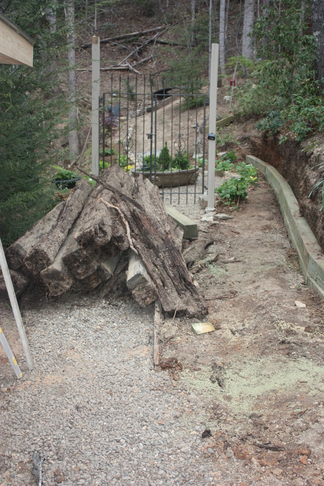 Building the Garden Shed and Retaining Wall