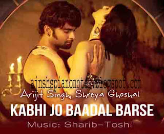 Kabhi Jo Badal Barse Piano Notes Jackpot Full Song