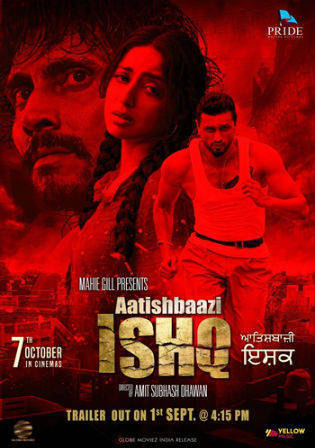 Poster of Aatishbaazi Ishq 2016 HDRip 400MB Punjabi Movie 480p Watch Online Free Download bolly4u