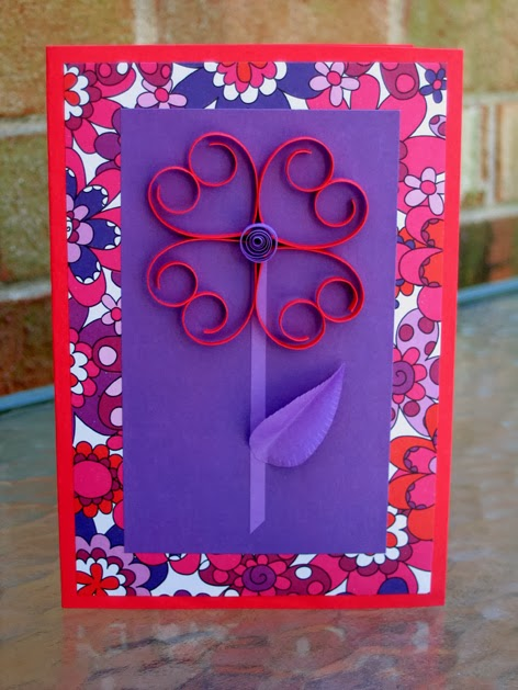 Quilled Valentine Heart Card for Children