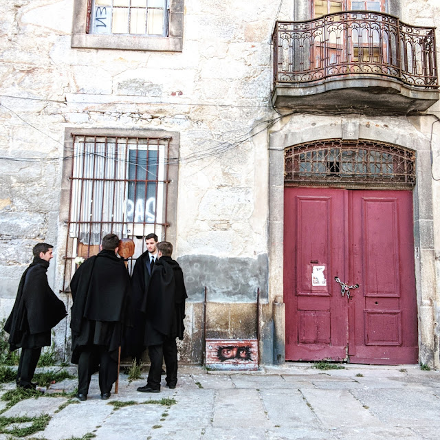 Harry Potter-esque Robed Students in Porto, photo credit: Lindsey Viscomi