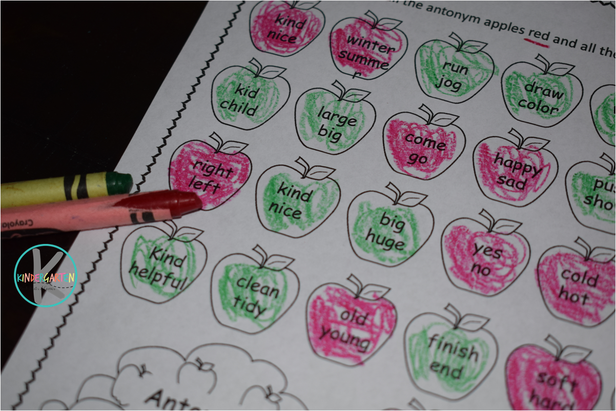 Free Apple Synonym And Antonym Worksheets