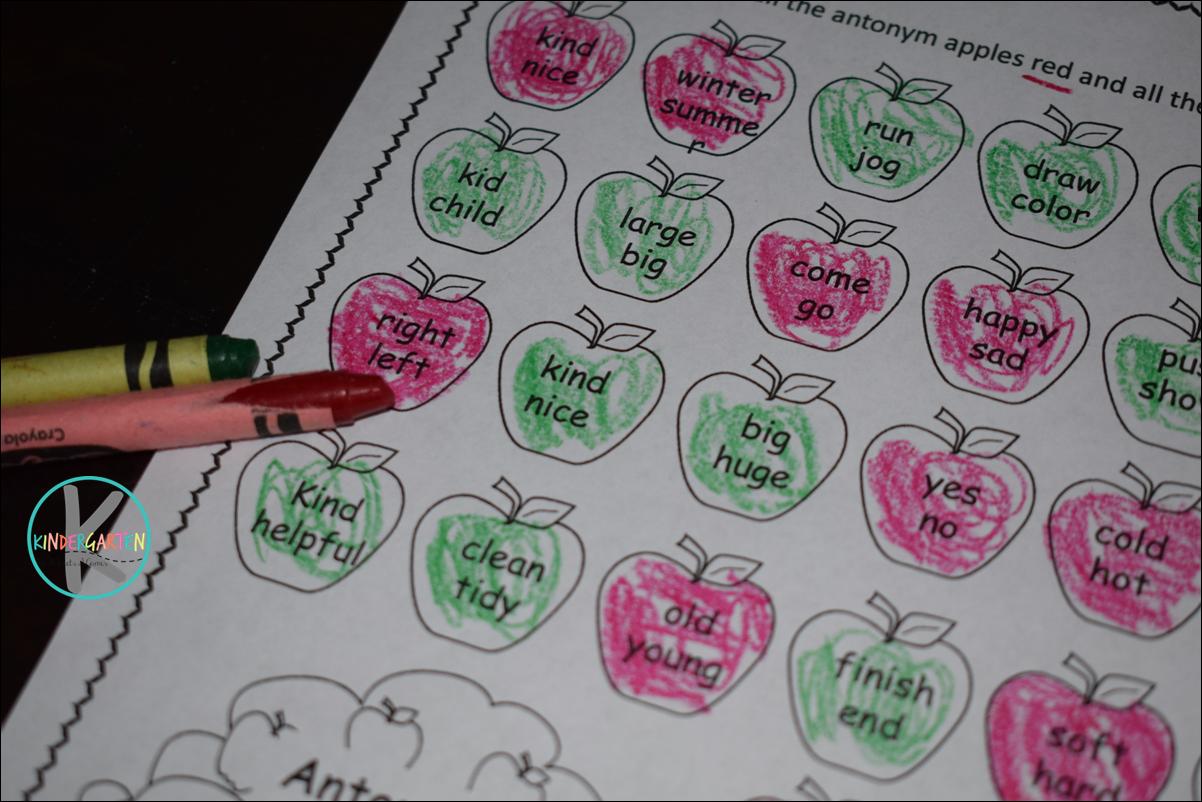 Free Apple Synonym And Antonym Worksheets
