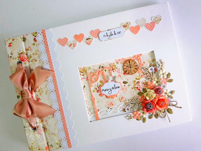 libro de firmas con maletin boda romantico