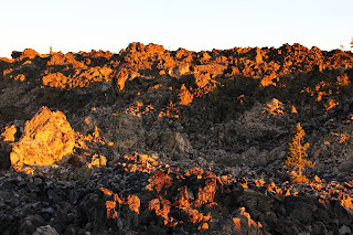 The Big Obsidian Flow at sunset