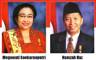 Gambar Megawati Soekarnoputri dan Hamzah Haz