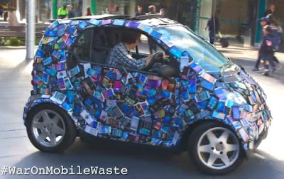 Car of phones fromCarig reucassel and the War on Waste