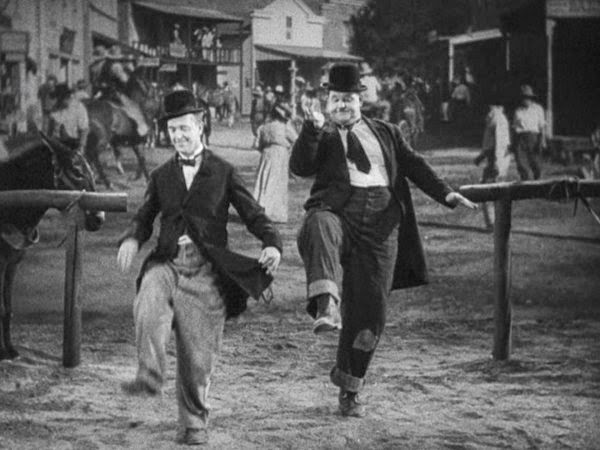 Laurel and Hardy dancing dance Way Out West