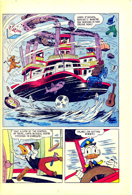 Uncle Scrooge Goes To Disneyland v1 #1 dell comic book page art by Carl Barks