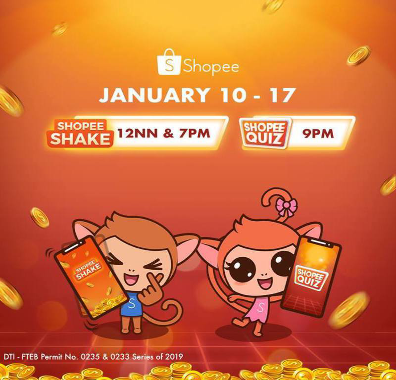 Shopee Shake and Shopee Quiz