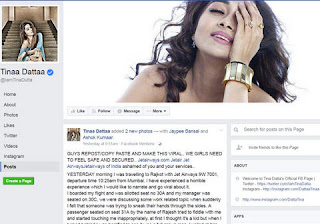 Tina Dutta posted her horrible experience of molestation in flight.