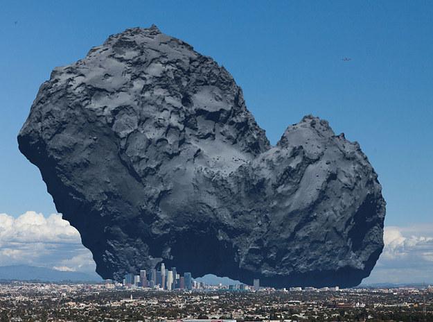 حجم-المذنب-بالنسبة-لمدينة-لوس-أنجلوس