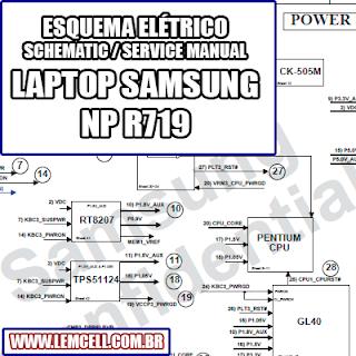 Esquema Elétrico Notebook Laptop Samsung NP R719 Manual de Serviço  Service Manual schematic Diagram Notebook Laptop Samsung NP R719    Esquematico Notebook Laptop Samsung NP R719