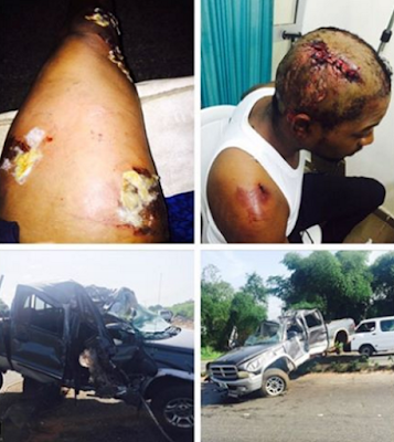 Actor Nosa Rex and his friends survives ghastly car accident