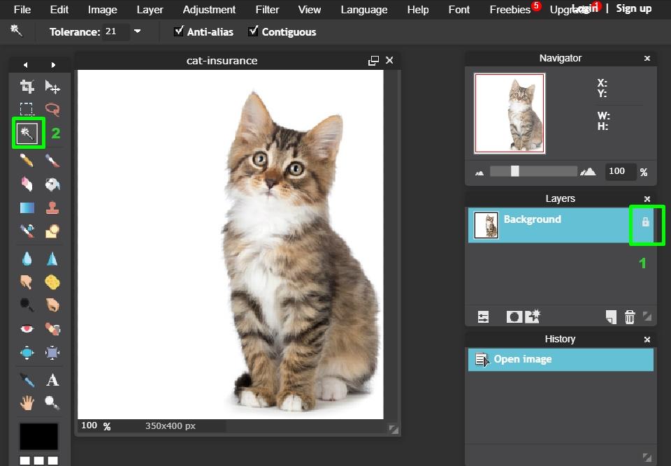 طريقة جعل خلفية الصورة شفافة PNG بدون استخدام برنامج فوتوشوب Photoshop
