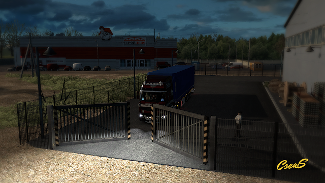 ets 2 animated gates in companies v3.1 screenshots 1