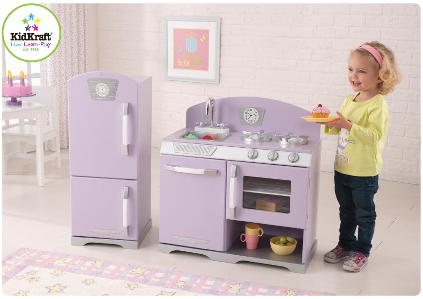 KidKraft Toys  Furniture New Lavender Retro Kitchen and